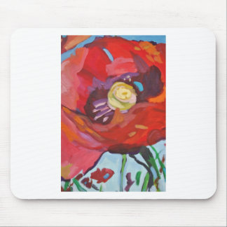 Poppy Painting IV Mouse Pad