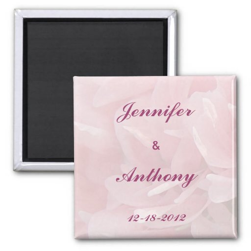Poppy Petals Save the Date Magnet