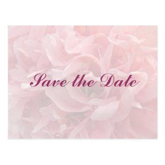 Poppy Petals Save the Date Postcard