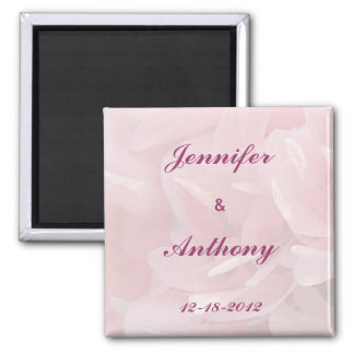 Poppy Petals Save the Date Square Magnet