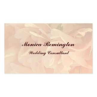Poppy Petals Wedding Consultant Pack Of Standard Business Cards
