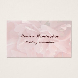 Poppy Petals Wedding Consultant Business Card