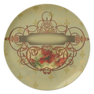 Poppy Plate Victorian Style
