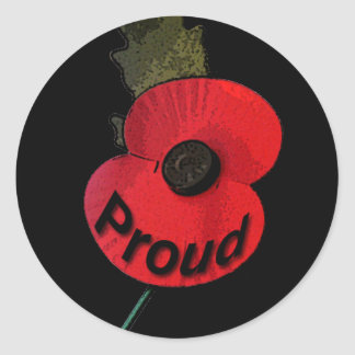 Poppy Proud.png Classic Round Sticker