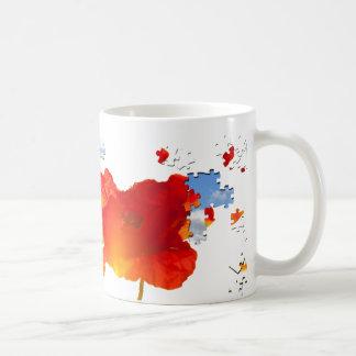 Poppy puzzle coffee mug