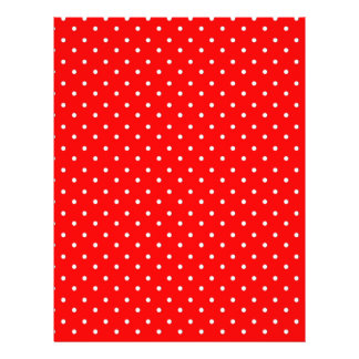 Poppy Red And White Polka Dots Design Flyer