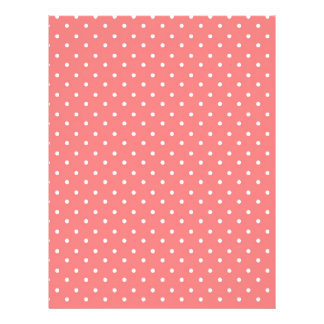 Poppy Red And White Polka Dots Design Personalized Flyer