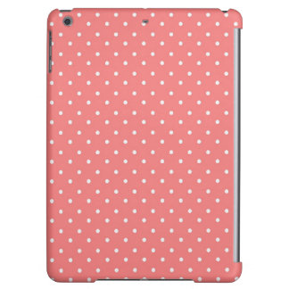 Poppy Red And White Polka Dots Design iPad Air Cases