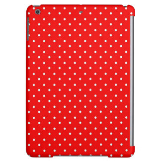 Poppy Red And White Polka Dots Design Case For iPad Air