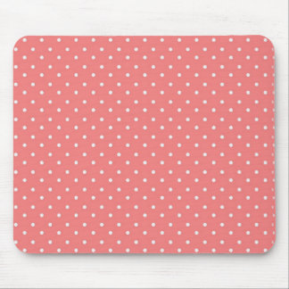 Poppy Red And White Polka Dots Design Mouse Pads