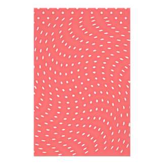 Poppy Red And White Polka Dots Pattern Flyer