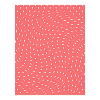 Poppy Red And White Polka Dots Pattern Flyers