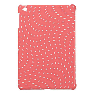 Poppy Red And White Polka Dots Pattern iPad Mini Cases