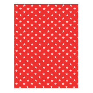 Poppy Red And White Stars Postcard