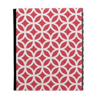 Poppy Red Geometric iPad Case