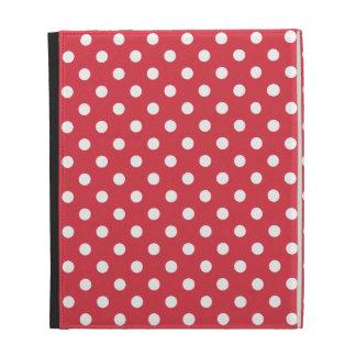 Poppy Red Polka Dot iPad Case