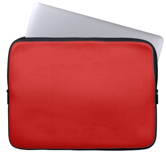 Poppy Red Trend Colour Customised Template Blank Laptop Sleeve