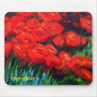 Poppy Riot Mouse Pads