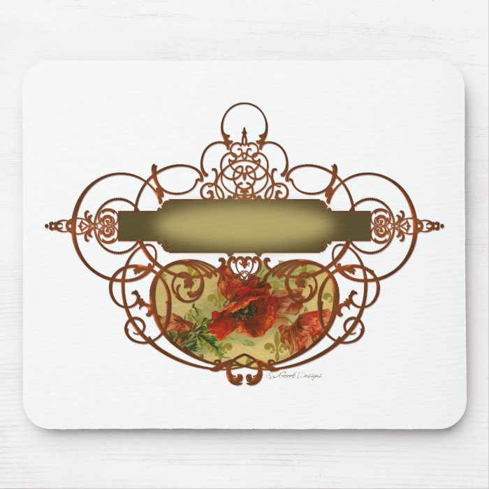 Poppy Scroll Banner Mouse Pad