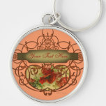 Poppy Scroll Victorian Style Key Chain