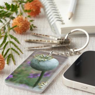 Poppy Seedhead Key Ring
