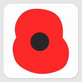 Poppy Square Sticker