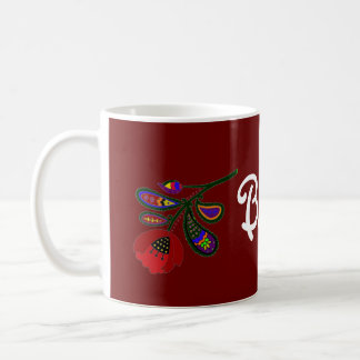Poppy Ukrainian Folk Art Coffee Mug