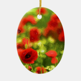 Poppy VI_ Ceramic Oval Decoration