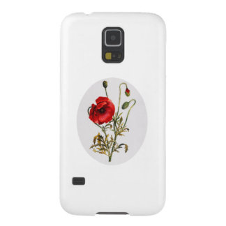 Poppy Watercolor Cases For Galaxy S5