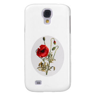 Poppy Watercolor Galaxy S4 Cover