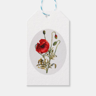 Poppy Watercolor Gift Tags