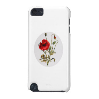 Poppy Watercolor iPod Touch (5th Generation) Cover