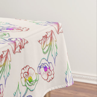 Poppyes floral pattern. Poppy. Tablecloth