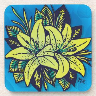 Pop's Lilies Drink Coaster