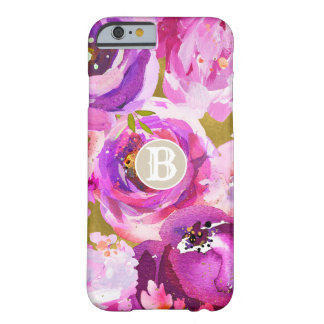 Pops Of Pink Purple Gold Modern Trendy Floral Chic Barely There iPhone 6 Case