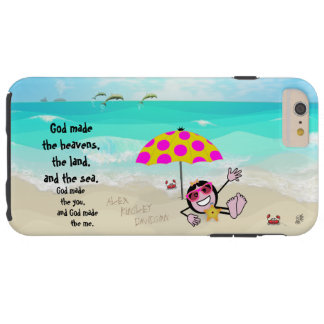 Pops' Peeps Beach Girl Tough iPhone 6 Plus Case