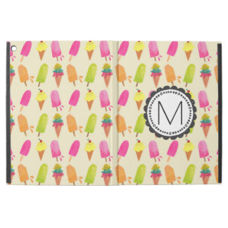 "Popsicle and Ice Cream Cones Personalized Monogram iPad Pro 12.9"" Case"