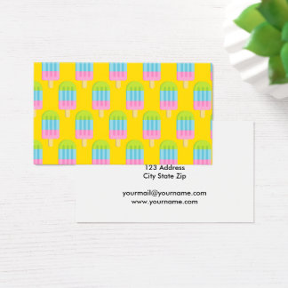 Popsicle ice cream lollipop business card template