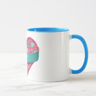 Popsicle Love-heart with banner, customizable Mug