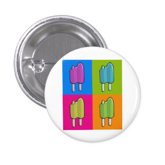 Popsicle Pop Art 3 Cm Round Badge