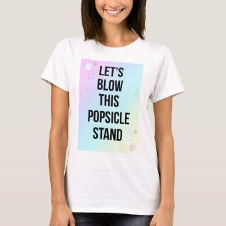 Popsicle Stand Slogan Pastel Print White T-Shirt