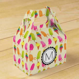 Popsicles and Ice Cream Personalized Monogram Favour Box