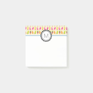 Popsicles and Ice Cream Personalized Monogram Post-it Notes