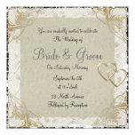 Popular and Elegant  Old Paper  Wedding Invitation