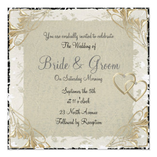 Popular and Elegant  Old Paper  Wedding Invitation