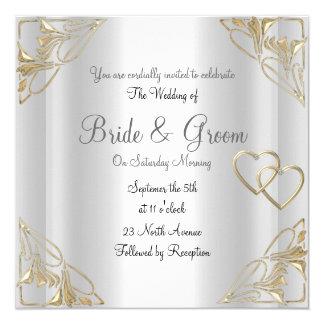 Popular and Elegant  Silver  Wedding Invitation