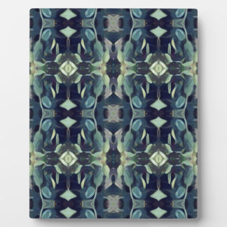 Popular Blue Teal Colors Tribal pattern Display Plaque