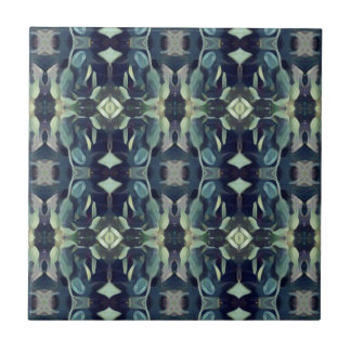 Popular Blue Teal Colors Tribal pattern Small Square Tile