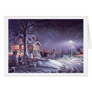 Popular  classic, vintage Christmas picture Card