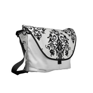 Popular Damasl Black and White Rickshaw Bag Messenger Bag